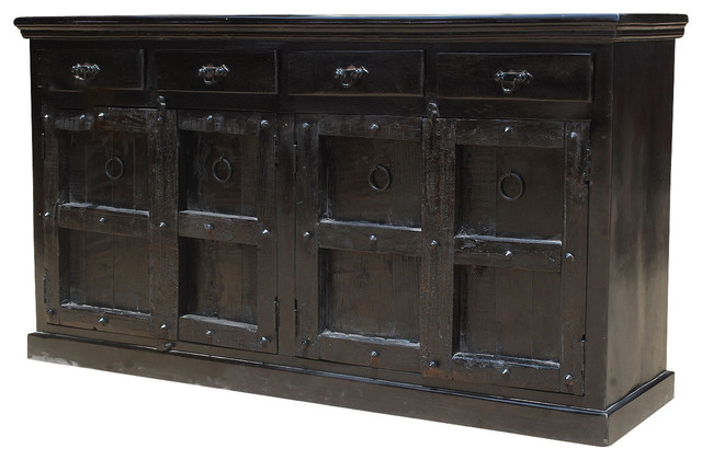 Door drawer buffet cabinet sideboard rustic buffets and