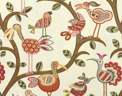 Mill Creek Crazy Ol Bird Sunrise eclectic fabric