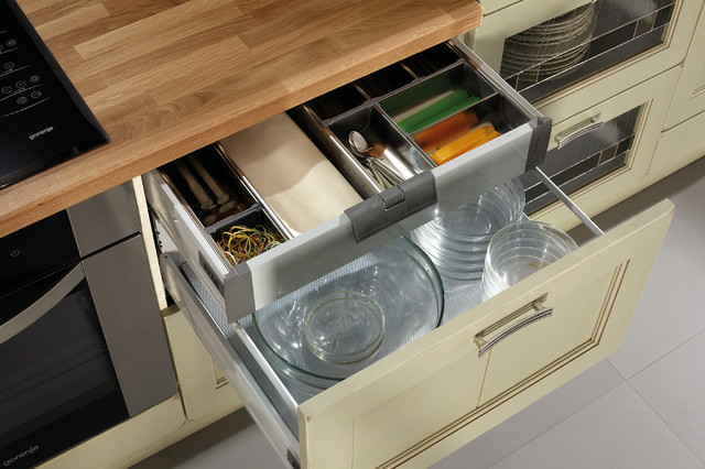 Tall Drawers with Invisible Internal Drawers modern-kitchen