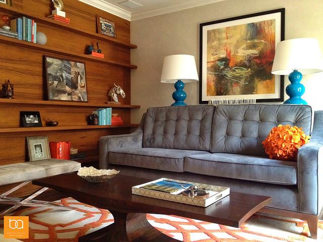 Contemporary Laguna Beach Living Room transitional-living-room