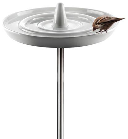 Birdbath, White contemporary-bird-baths