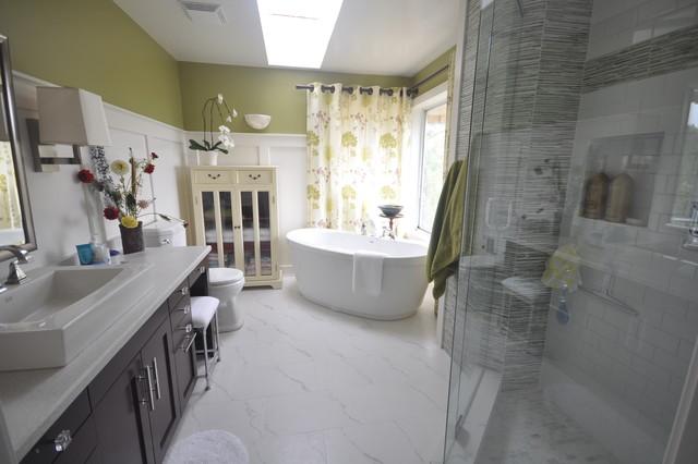 Colourful bathroom contemporary-bathroom