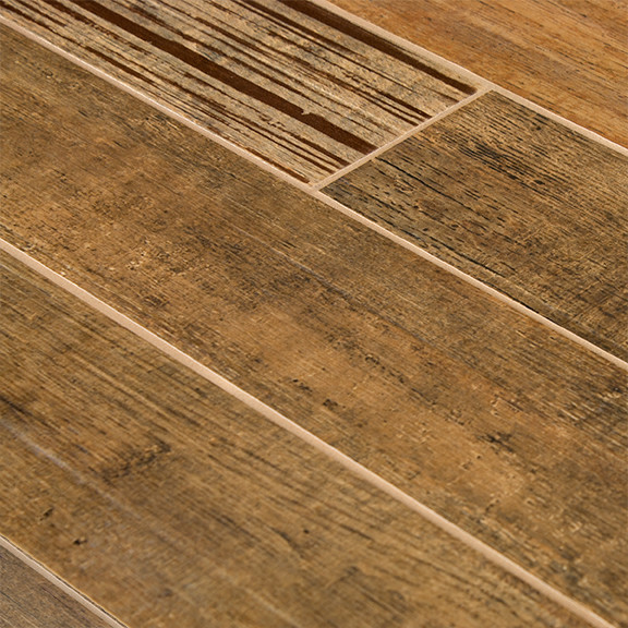 Series Brun Wood Plank Porcelain Tile Traditional Wall And Floor Tile