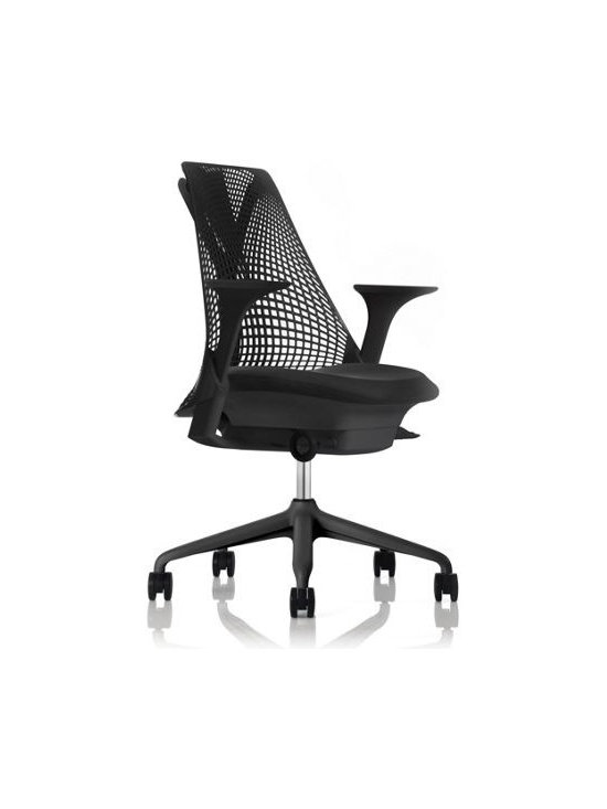 """Herman Miller - Sayl Task Chair - """"I knew that creating a work chair is one of design's greatest challenges, an intimidating project in every possible way,"""" says Swiss designer Yves Béhar. """"There is no place to hide in a chair. Every part serves a structural or tactile purpose."""" Béhar didn't have to look far from his adopted home of San Francisco for the inspiration of his Sayl Chair (2010). The geometry of the suspension system on the Golden Gate Bridge can be seen in the airiness of the Sayl's signature back. The name reflects the sailboats that pass beneath the famous bridge, and replacing the """"i"""" in """"sail"""" with a """"y"""" is a nod to the chair's innovative Y-Tower™ structure. Low cost but high minded, the Sayl was almost three years in the making and has achieved the prestigious Cradle-to-Cradle Silver certification. Although 90% recyclable, the Sayl is no throw-away: It comes with a 12-year warranty and is shipped as two pieces in a single box half the chair's size for minimal transportation impact. To assemble, simply lock the chair into the base – no tools required. Made in U.S.A."""
