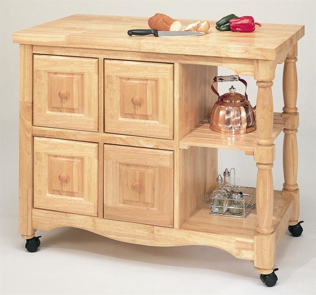 Family Friendly Kitchen Houzz: 4-Drawer Eco-Friendly Kitchen Cart