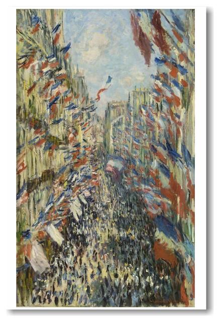 La rue Montorgueil a Paris - Celebration of June 30, 1878 - Monet - Art POSTER traditional-prints-and-posters
