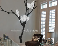 Magnolia Flower Branch Decal modern decals