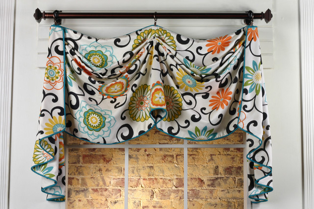 Catherine valance sewing pattern other metro by pate meadows designs - Kitchen valance patterns ...