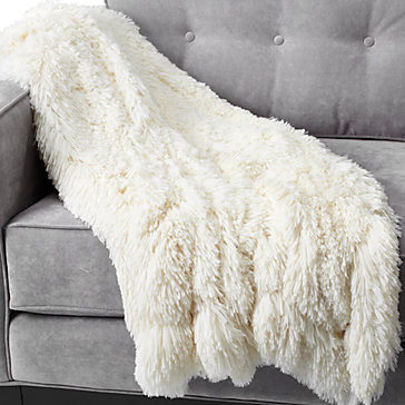 Ludlow Throw - Winter White modern throws