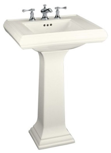 Kohler Memoirs 24 Pedestal Sink : Kohler Memoirs Pedestal Sink - Traditional - Bathroom Sinks - other ...
