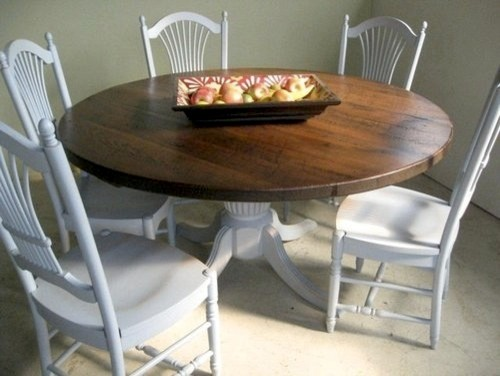 Rustic Round Harvest Table And Chairs Farmhouse Dining Tables boston