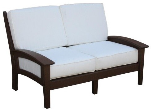 Eagle One Newport Loveseat with Cushions Black None contemporary-outdoor-sofas