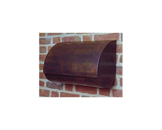 Teardrop-Style Copper Mailbox -