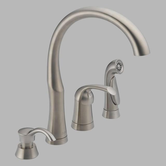 delta bellini 11946 sssd dst single handle kitchen faucet factory direct hardware home improvement