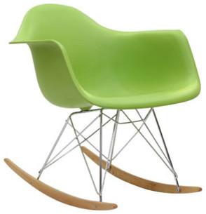 Rocker Lounge Chair in Green modern-rocking-chairs