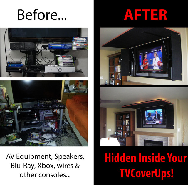 Hide Your AV Equipment/Blu-Ray/Wires/Speakers! - other ...