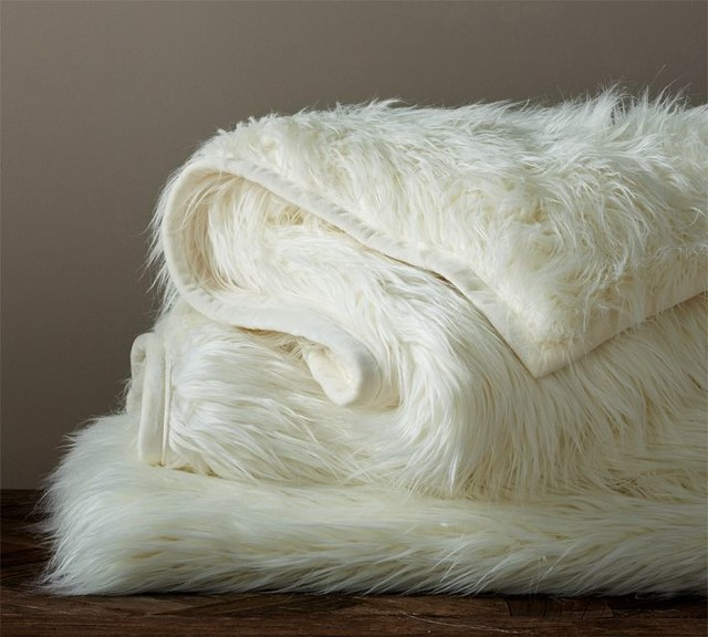 ... , Long Shaggy - Traditional - Throws - sacramento - by Pottery Barn