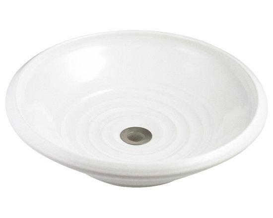 Indikoi Sinks LLC - SOHO: Vessel Mount Sink, White - The Soho style is a low sleek vessel mount sink.
