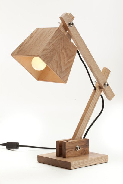 contemperary wooden bedside table reading lamps for