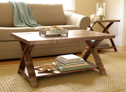 Rustic Wooden Coffee Table traditional coffee tables
