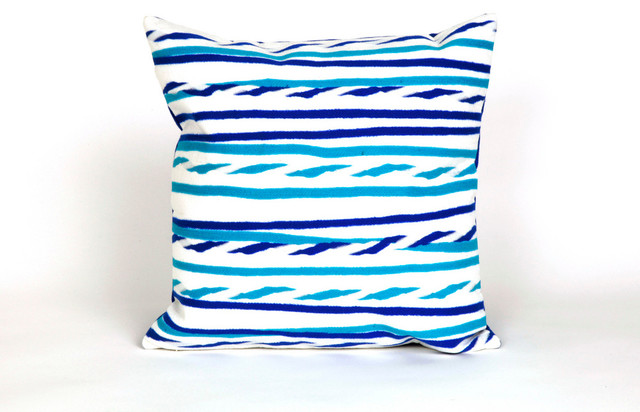 "Twist Stripe Sky Print 20"" By 20"" Decorative Throw Pillow contemporary-decorative-pillows"