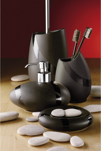 Stone moka bathroom accessories contemporary bathroom - Modern bathroom accessories sets ...