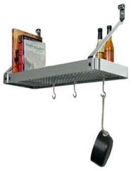 Enclume Premier Deep Wall Pot Rack - Stainless Steel traditional-pot-racks-and-accessories