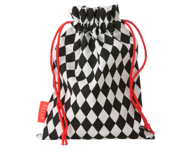 Clothes Pin Harlequin Bag W/20 Pins, Black contemporary-laundry-products