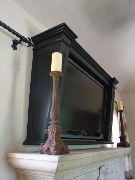 Flat screen TV Frame - Traditional - phoenix - by Agape Wood Design