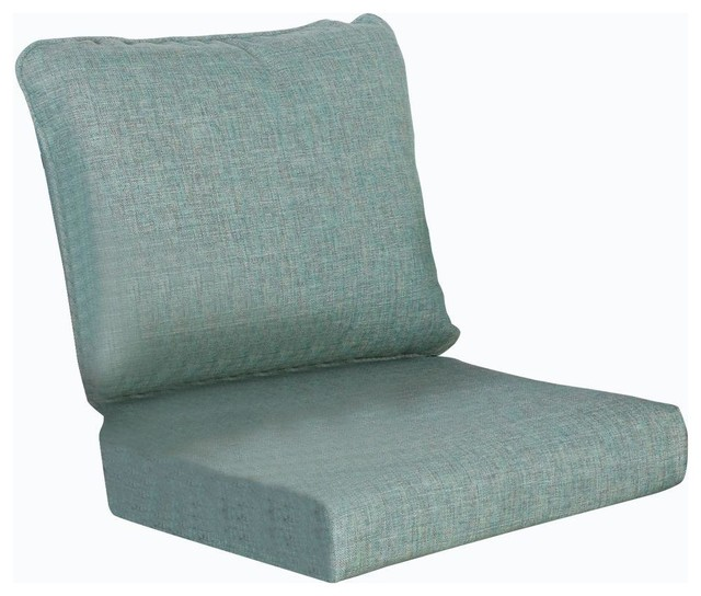 Hampton Bay Cushions Cane Crossing Patio Chat Chair Replacement Seat and Back