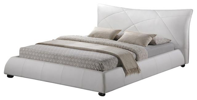 Baxton Studio Corie White Modern Platform Bed - Queen Size contemporary-platform-beds