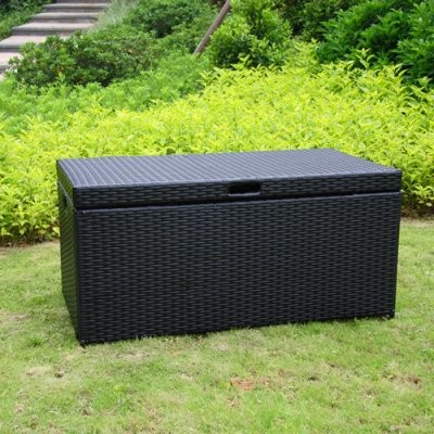 Outdoor Wicker Patio Furniture Storage Deck Box modern patio furniture