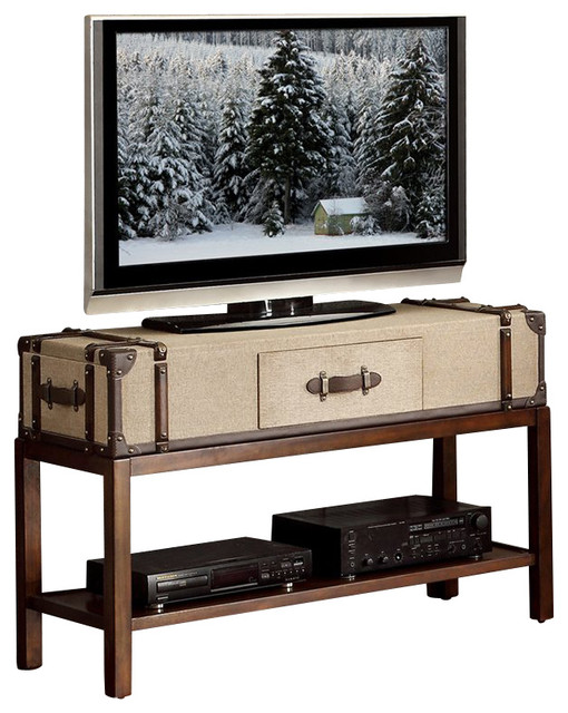 Riverside Furniture Bon Voyage Suitcase Sofa Table In Aged