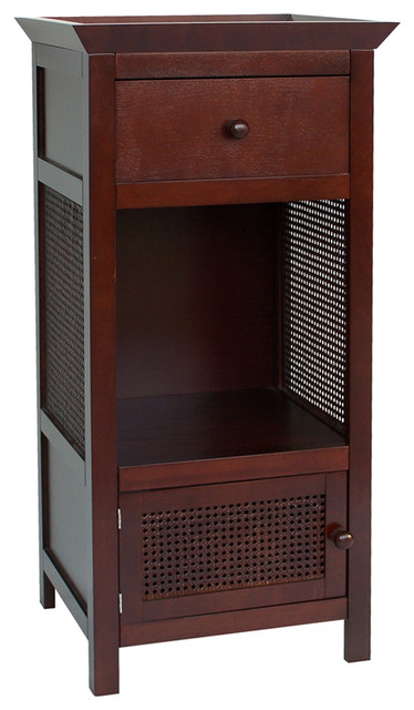 Cane Floor Cabinet traditional-bathroom-storage