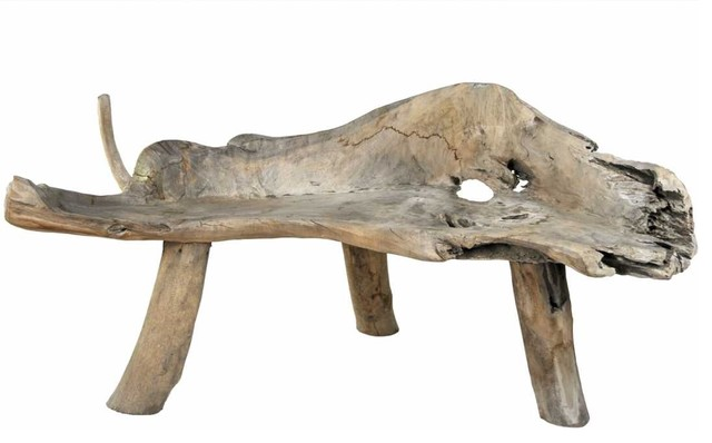Driftwood Bench modern-indoor-benches