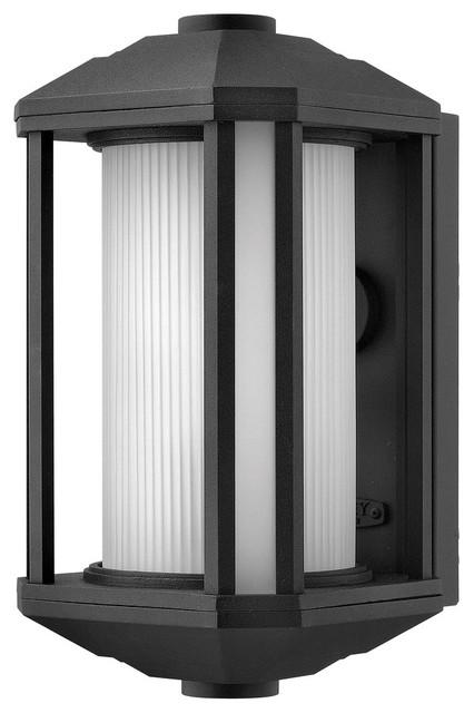 Hinkley Lighting 1394BK-GU24 Castelle 1 Light Outdoor Wall Lights in Black asian-outdoor-products