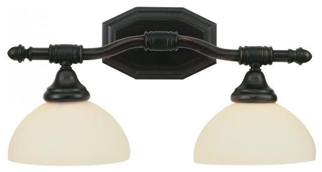 Bull Nose 2 Light Bath Bar Bronze modern-bathroom-accessories