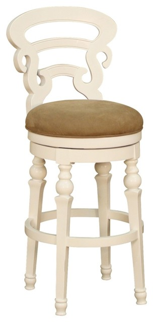 """Country - Cottage American Heritage Metropolitan White 30"""" Bar Stool traditional-bar-stools-and-counter-stools"""