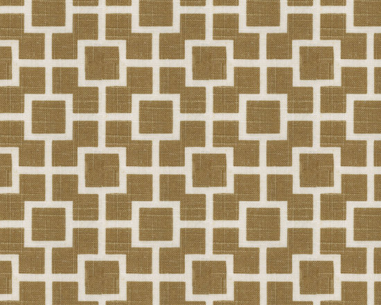 Hip to Be Square : Sand - Tan square trellis linen fabric.