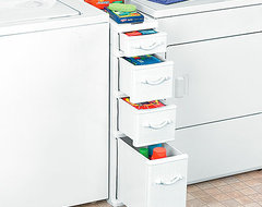 Wicker Between Washer Dryer Drawers traditional-storage-and-organization