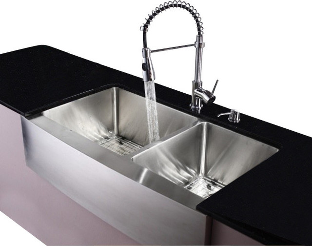 Farmhouse Stainless Steel Kitchen Sink : All Products / Kitchen / Kitchen Fixtures / Kitchen Sinks