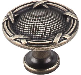 "Ribbon & Reed Knob 1 1/4"" - German Bronze modern-cabinet-and-drawer-knobs"