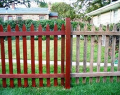 After and before fence stain. outdoor-products