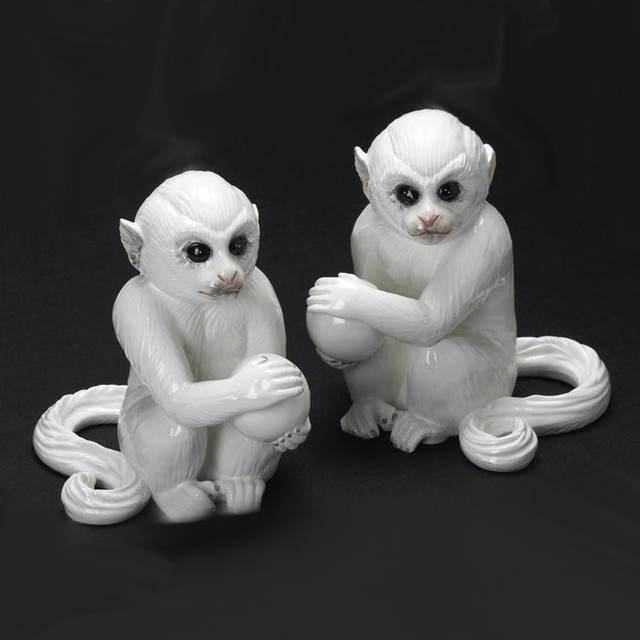 Monkey Bookends eclectic-bookends