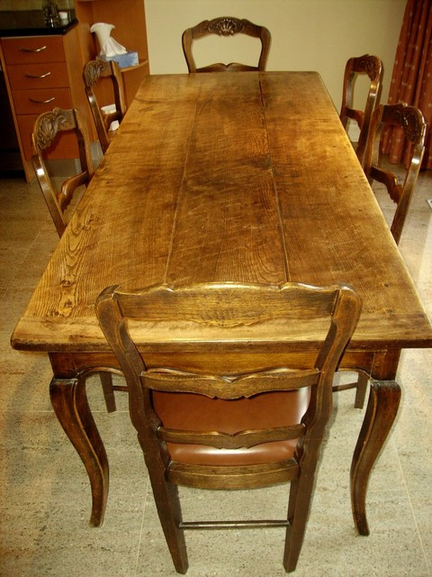 Antique Proven Al French Country Table With Six Chairs Eclectic Dining T