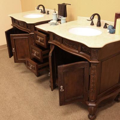 Double Bathroom Vanities traditional