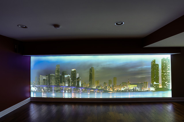 Wall Photo Light Box : Miami Ocean View Family Room Wall Light Box - Contemporary - chicago - by Innovative Coverings