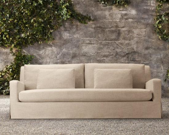 "84"" Belgian Slope Arm Outdoor Sofa -"