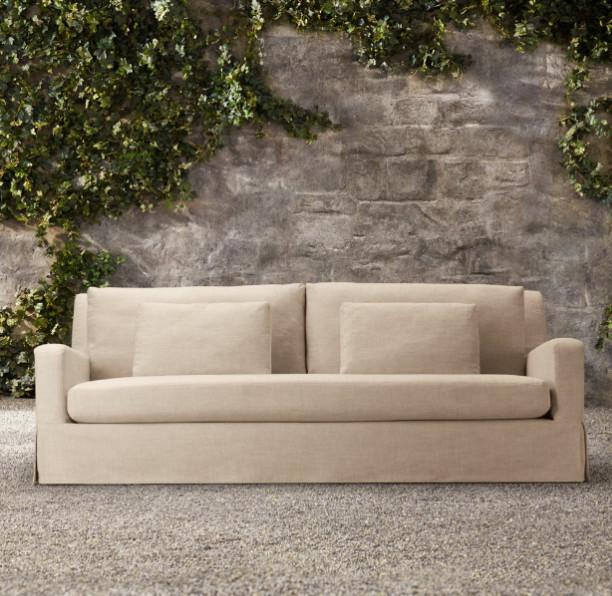 84 Belgian Slope Arm Outdoor Sofa Traditional Outdoor
