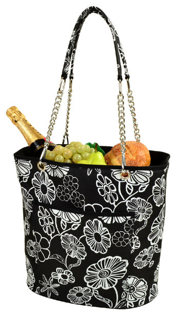 Insulated Cooler Tote With Chain Handle contemporary-coolers-and-ice-chests